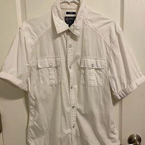 American Rag Men's Short Sleeved Button Up